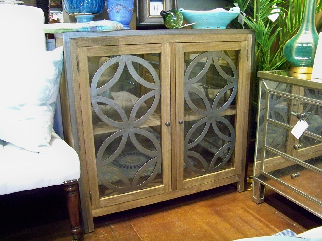 Accent cabinet with glass doors - The Width Is 40 Depth 16 And Height About 38 The Cabinet Is A Very Stylish Accent Piece And Sells For 1097 50 If You Are Looking For A Piece With