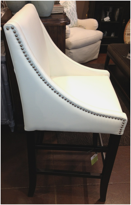 The barstools are available in ivory grey and black leather and also e in counter height and as dining chairs In order to keep the great price point