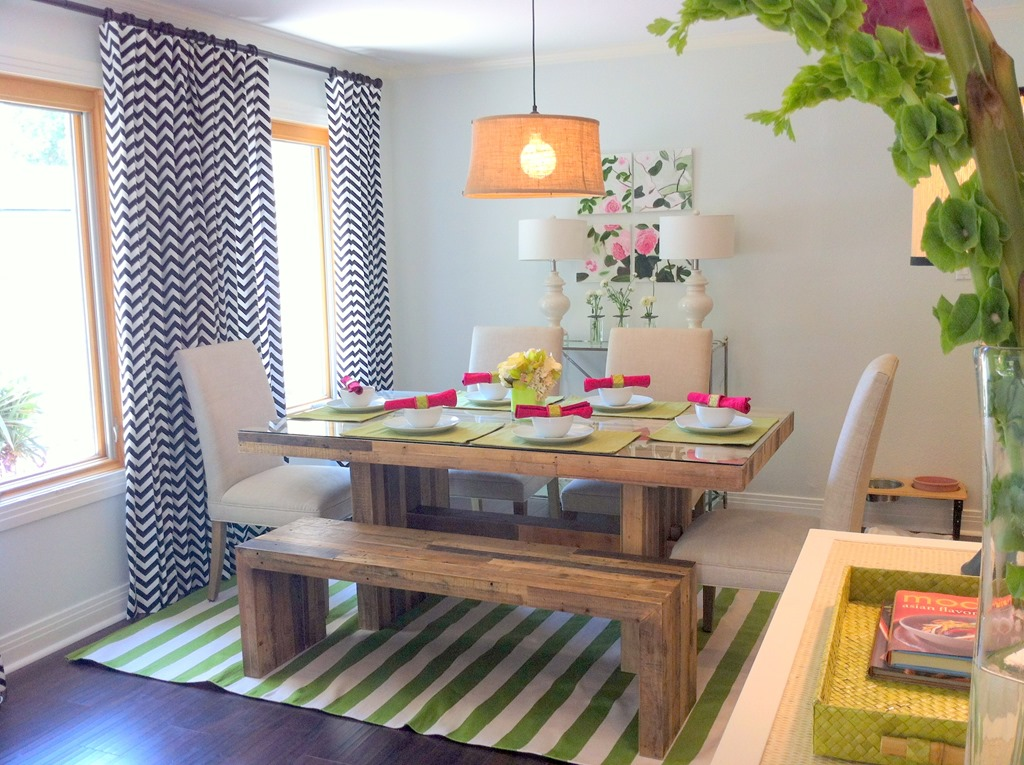 Stripes and pattern in interior design archives heather for Property brothers dining room designs
