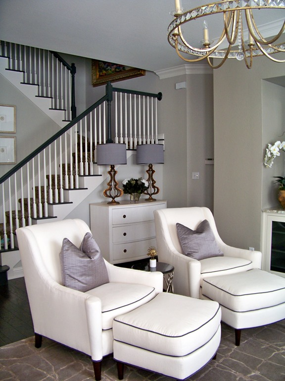 before & after: chic family room - heather scott home & design