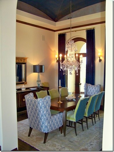 grand dining room view by heather scott home and design