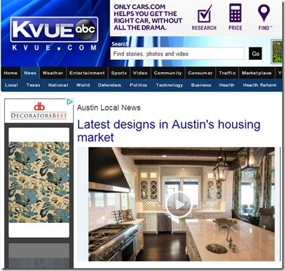 KVUE news story on parade of homes