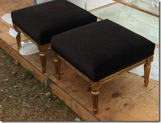 black velvet ottomans