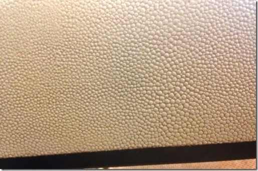 shagreen detail on cocktail table