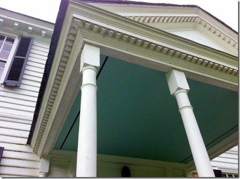 Tuckahoe, haint blue porch