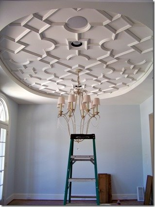 heather scott interior design dining room ceiling with plaster treatment
