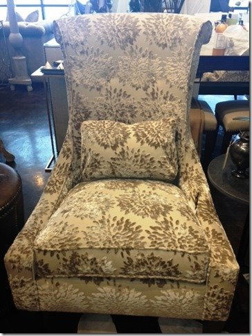 taupe velvet accent chair