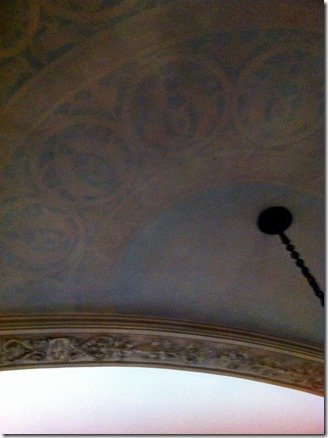 ceiling detail in entry