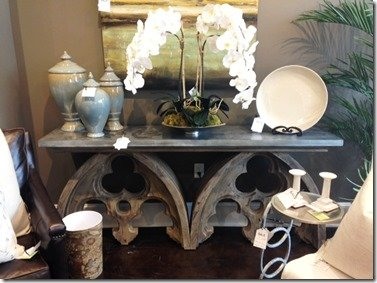 arched cathedral console table