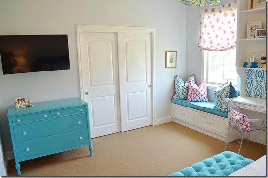 teen girl bedroom makeover painted chest