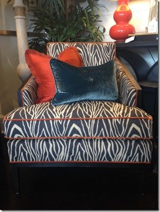 zebra print chairs with pillows