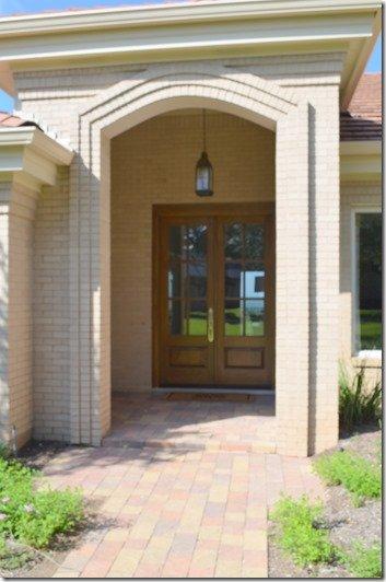 front door before a