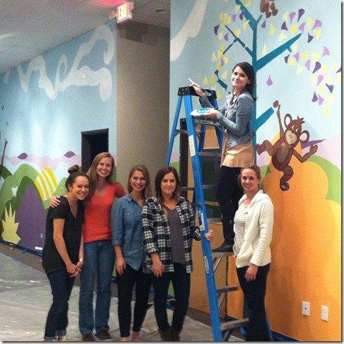 HSHD team painting wall murals