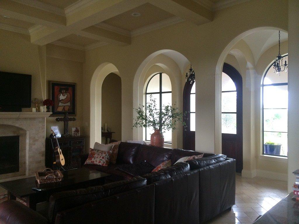 Santa Barbara Family Room Before View To Entry