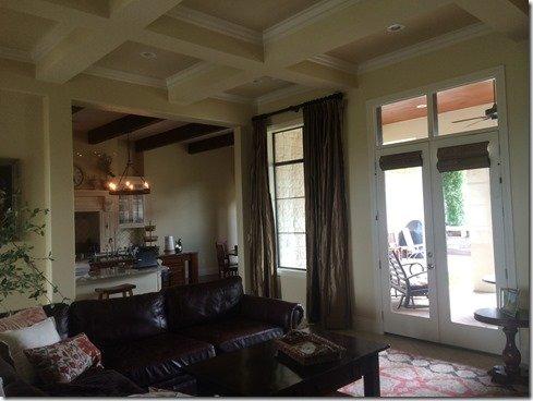santa barbara family room before view to patio