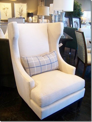 wingback chair side view