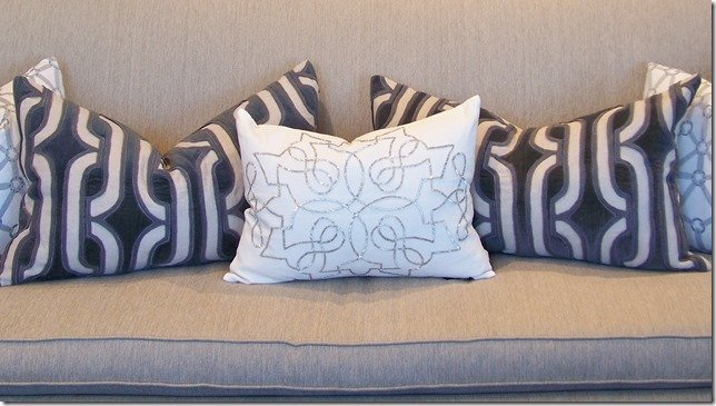 close up of beaded pillow