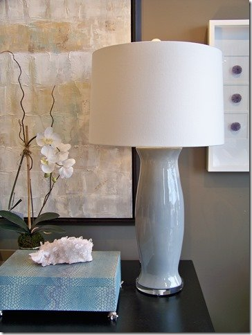 gray custom ceramic lamp