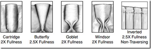 pleat styles, row 2
