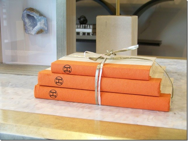 Hermes decorative books, orange