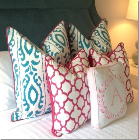 custom patterned pillows