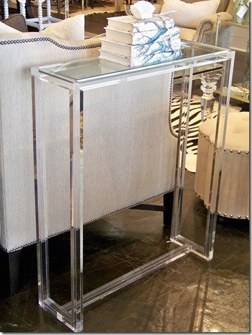 acrylic glass console