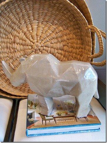 ceramic cubism rhino
