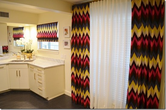 chevron drapery panels