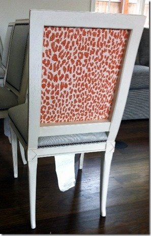 animal print on chair back
