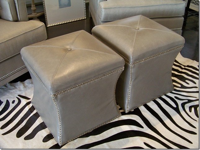 grey cube storage leather ottoman