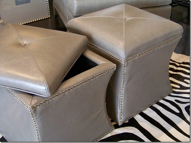 cube leather storage ottoman