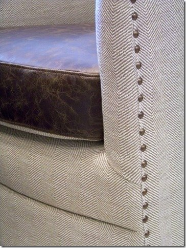 close up swivel chair with leather