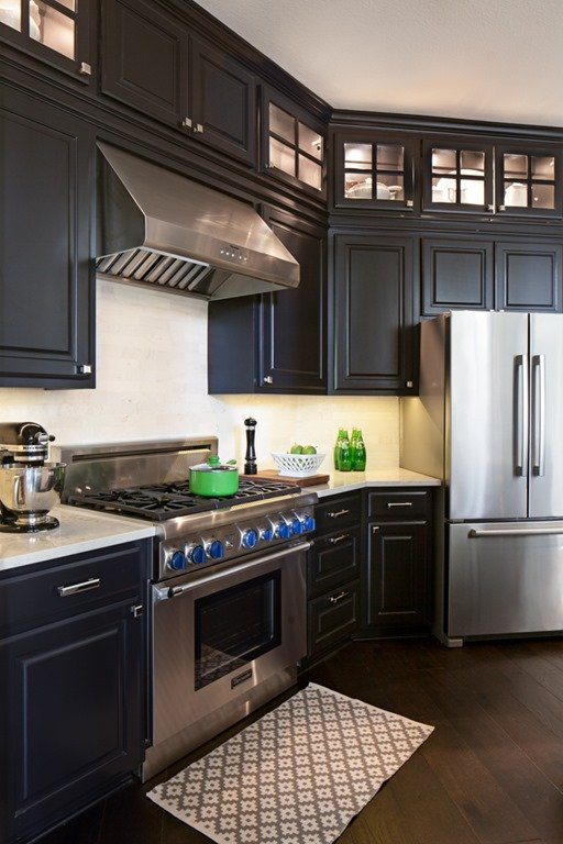 Medium Brown Painted Kitchen Cabinets