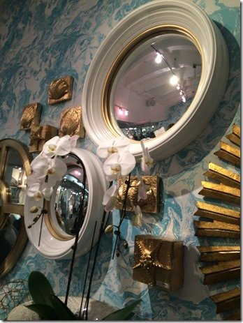 mirrors with gold accents