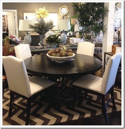Whats New Wednesday Round Dining Table with Metal Pedestal Base