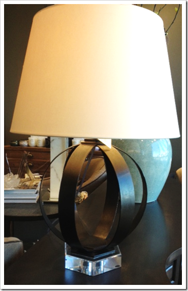 What s new wednesday metal banded table lamps heather for Table lamps austin tx