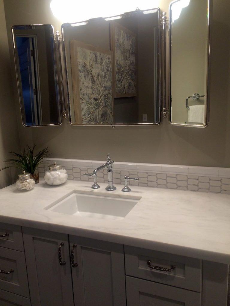 model condo bath tile