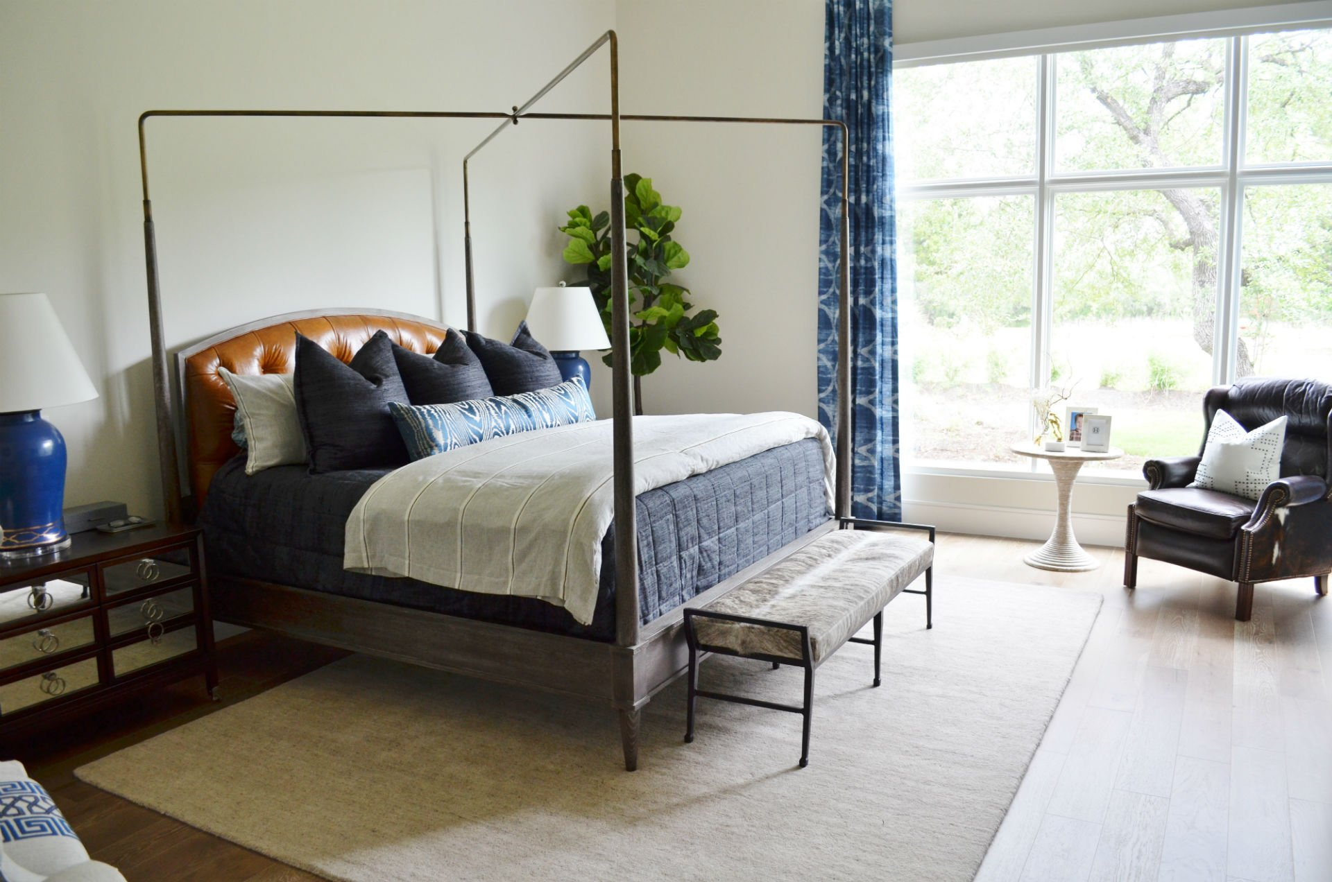 Before after a masculine master bedroom heather scott - How to design a small bedroom ...