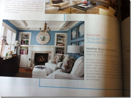 Design Guide Heather Blue Harkovich ASID award best singular space