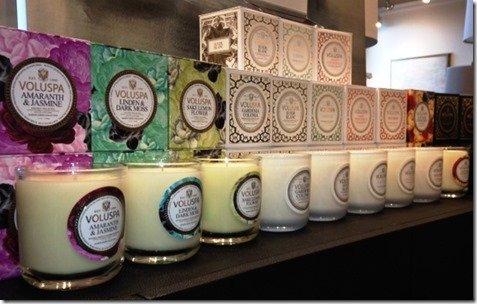 Voluspa candles at Heather Scott Home & design