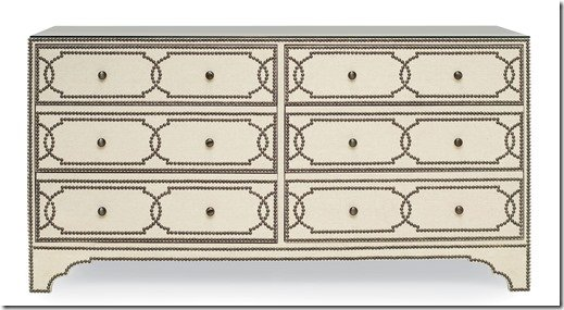 Linen and nailhead dresser