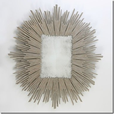 Studio A soliel mirror in taupe
