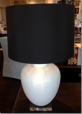 lamp with acrylic base