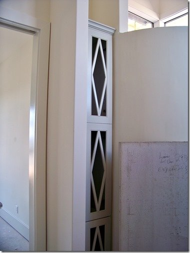 master bathroom linen closet