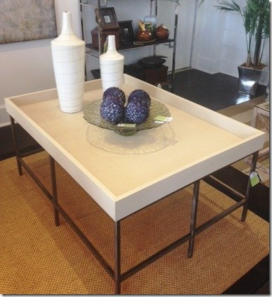 ivory shagreen cocktail table