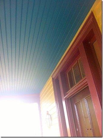 James Monroe's home, haint blue porch