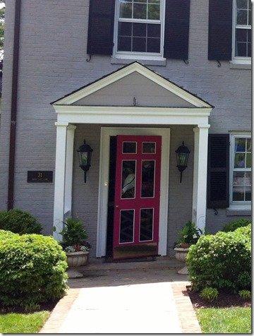 hot pink door