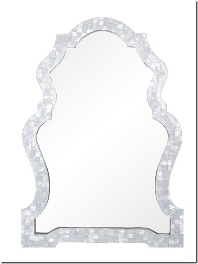 mother of pearl mirror What's New Wednesday: Mother of Pearl Mirror   Heather Scott Home  mother of pearl mirror