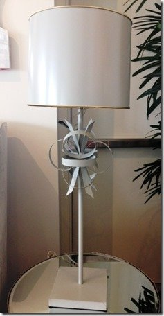 hand worked metal lamp chic
