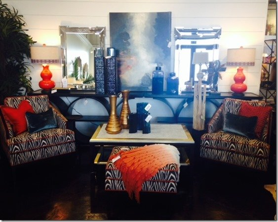 zebra printed chairs with ottoman